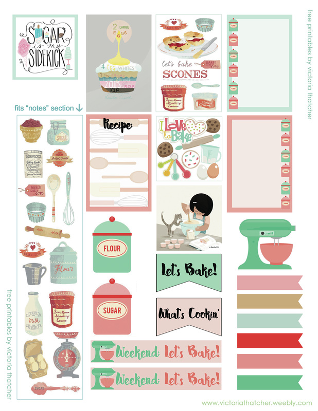 photograph regarding Happy Planner Printable identified as Baking concept for hefty Delighted Planner (8.5x11) - VICTORIA