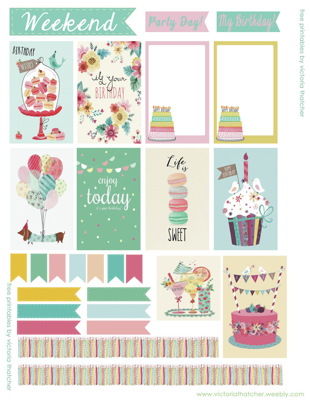 graphic relating to Happy Planner Printable titled Birthday Printables for Joyful Planner (8.5x11) - VICTORIA