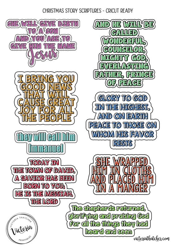 christmas story scripture stickers victoria thatcher